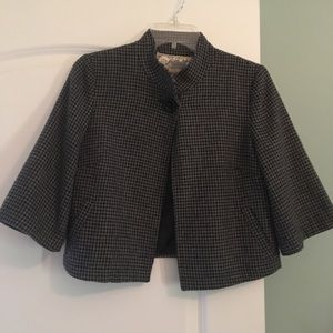 Jackets & Blazers - Houndstooth crop jacket